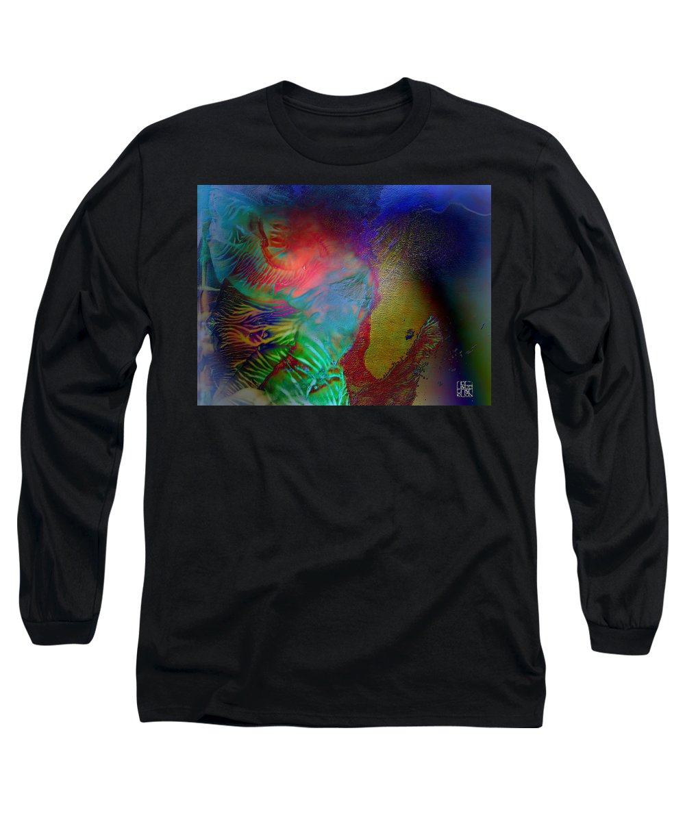 Surrealism Long Sleeve T-Shirt featuring the digital art Topology Of Decalcomania by Otto Rapp