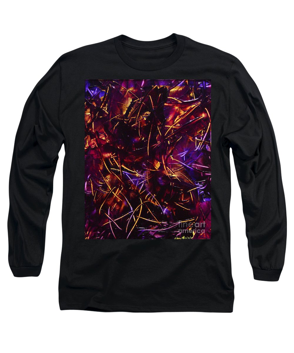Abstract Long Sleeve T-Shirt featuring the painting Transitions X by Dean Triolo