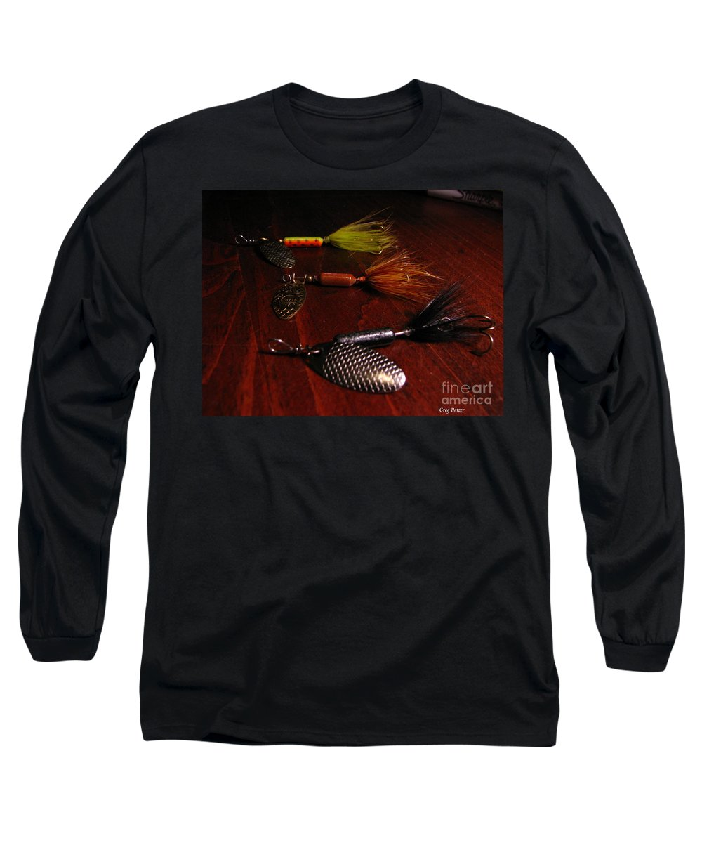 Patzer Long Sleeve T-Shirt featuring the photograph Trout Temptation by Greg Patzer