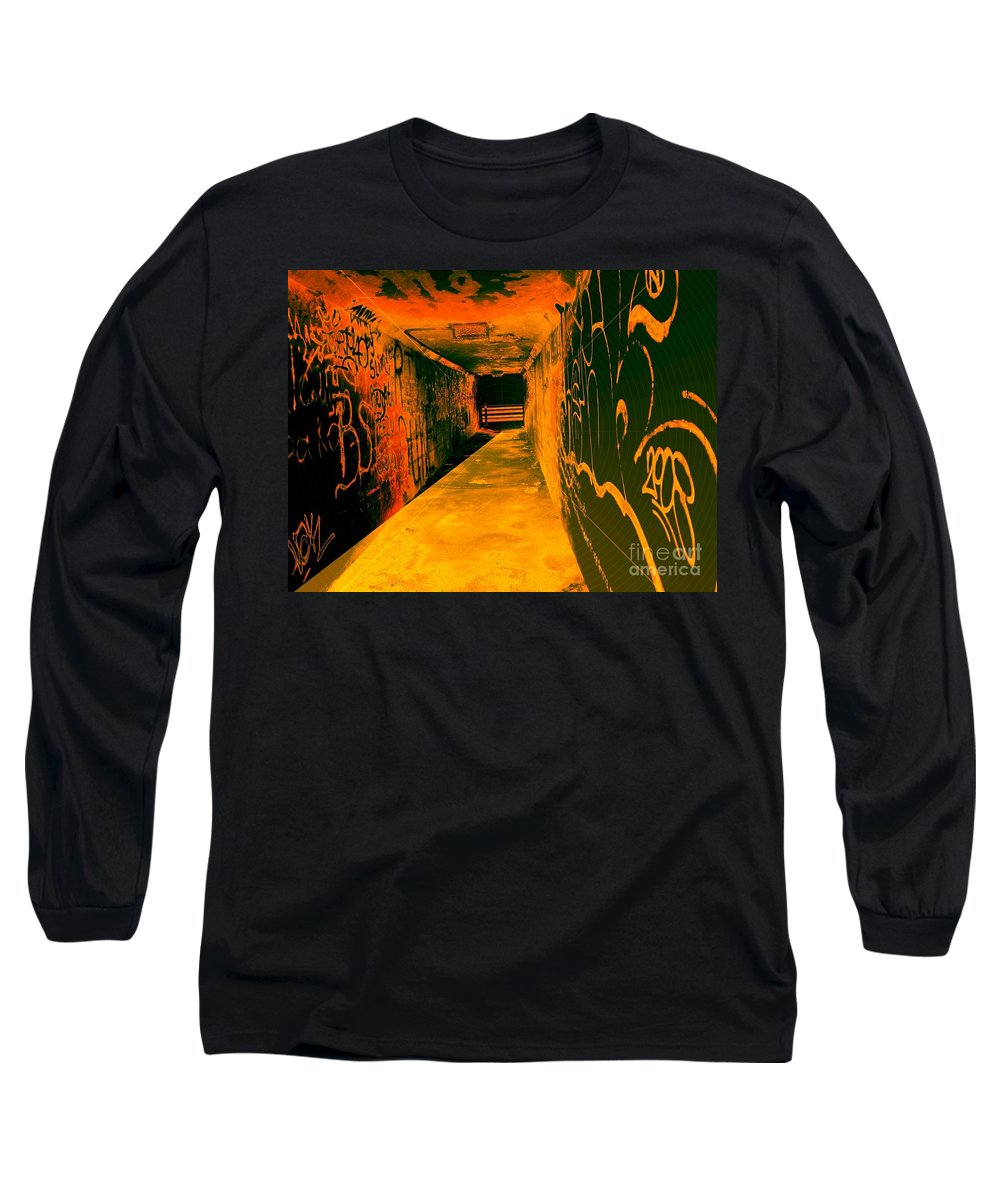 Tunnel Long Sleeve T-Shirt featuring the photograph Under The Bridge by Ze DaLuz