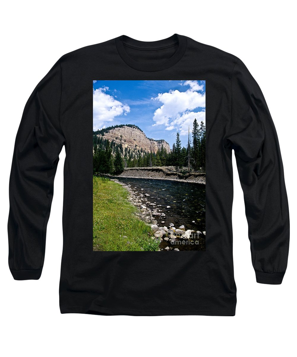 Landscape Long Sleeve T-Shirt featuring the photograph Upriver In Washake Wilderness by Kathy McClure
