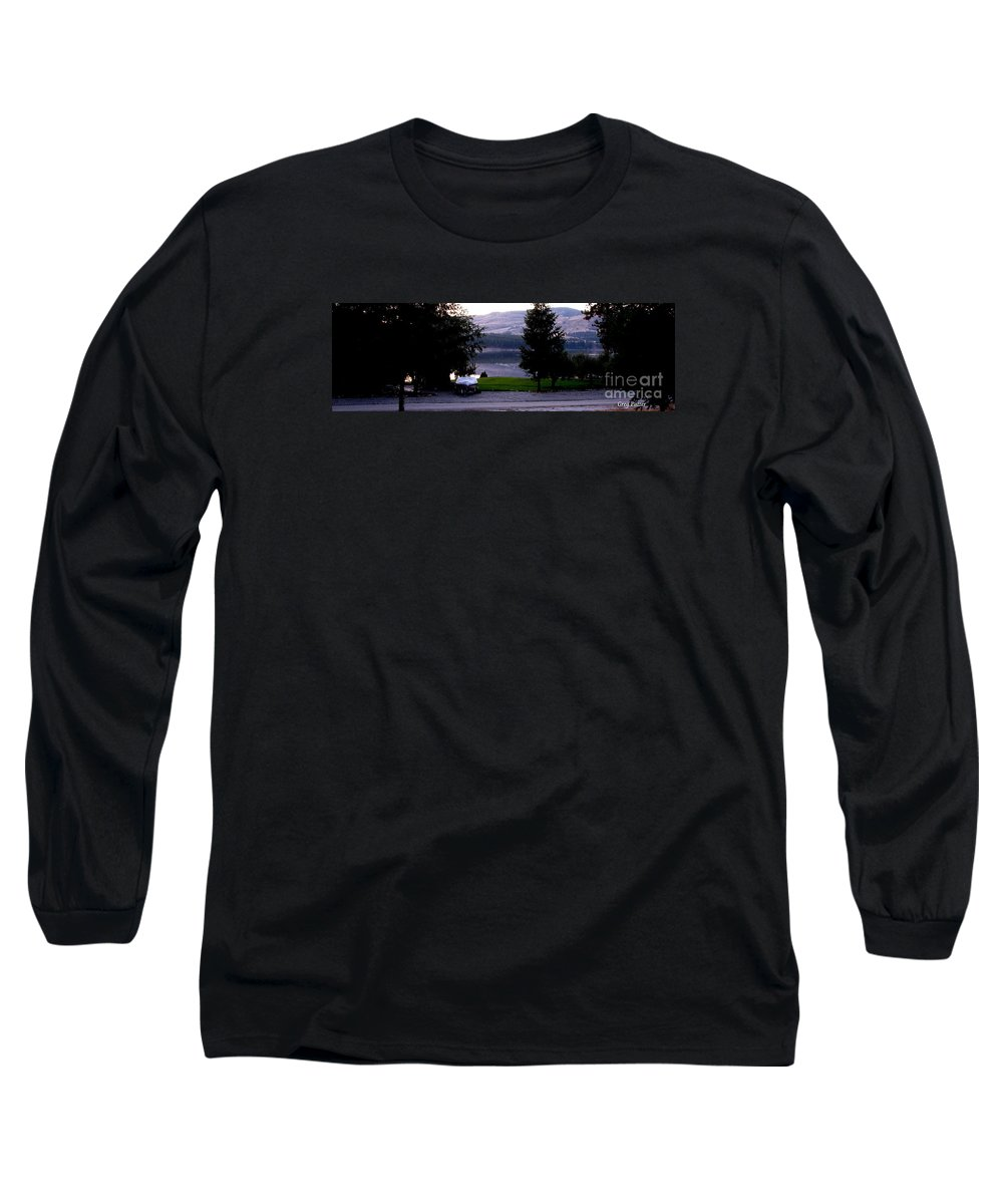Art For The Wall...patzer Photography Long Sleeve T-Shirt featuring the photograph View To Columbia by Greg Patzer