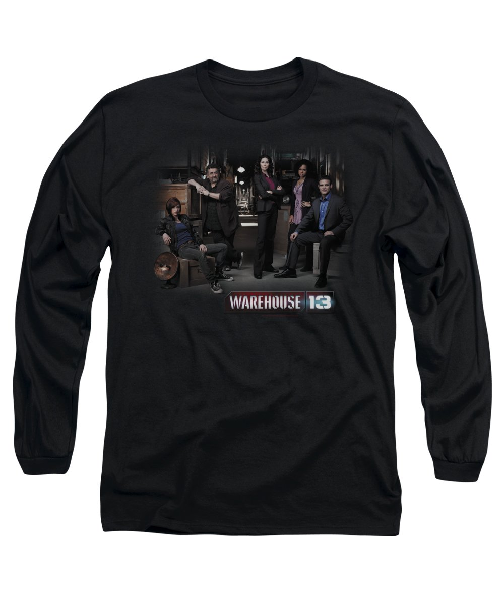 Warehouse 13 Long Sleeve T-Shirt featuring the digital art Warehouse 13 - Warehouse Cast by Brand A