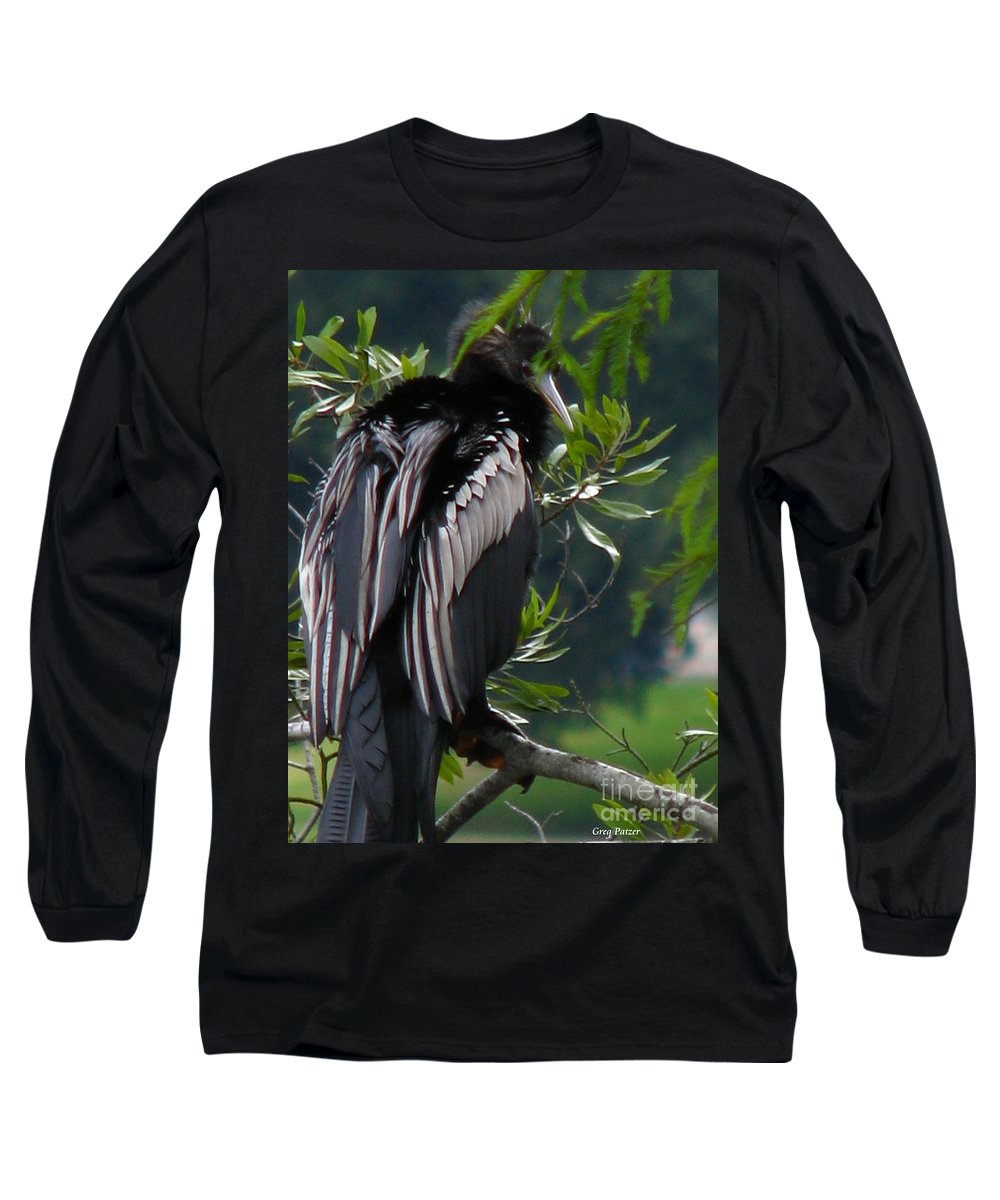 Patzer Long Sleeve T-Shirt featuring the photograph Water Turkey by Greg Patzer