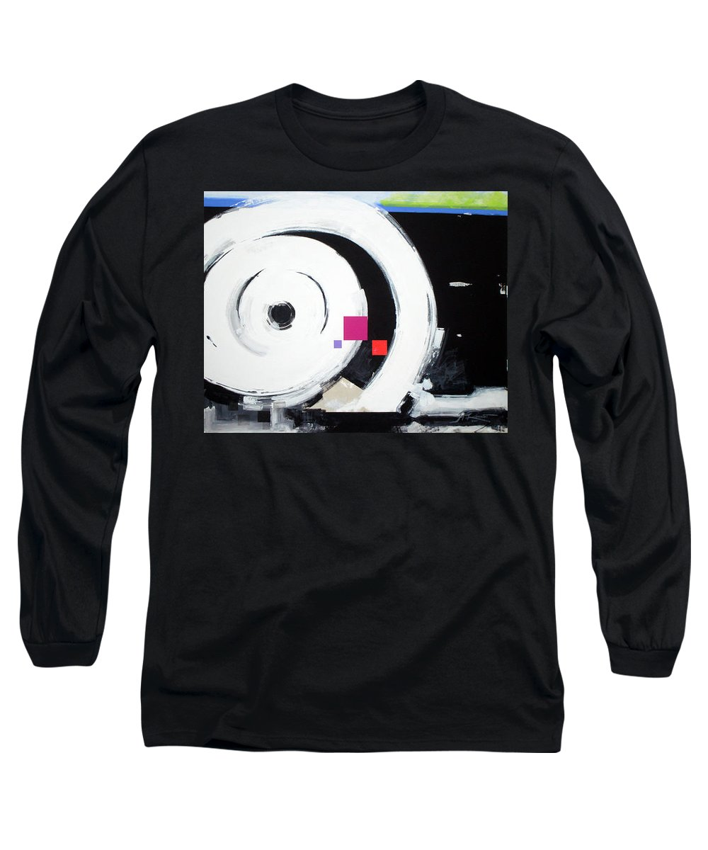 Abstract Long Sleeve T-Shirt featuring the painting Wheel Of Fortune by Jean Pierre Rousselet
