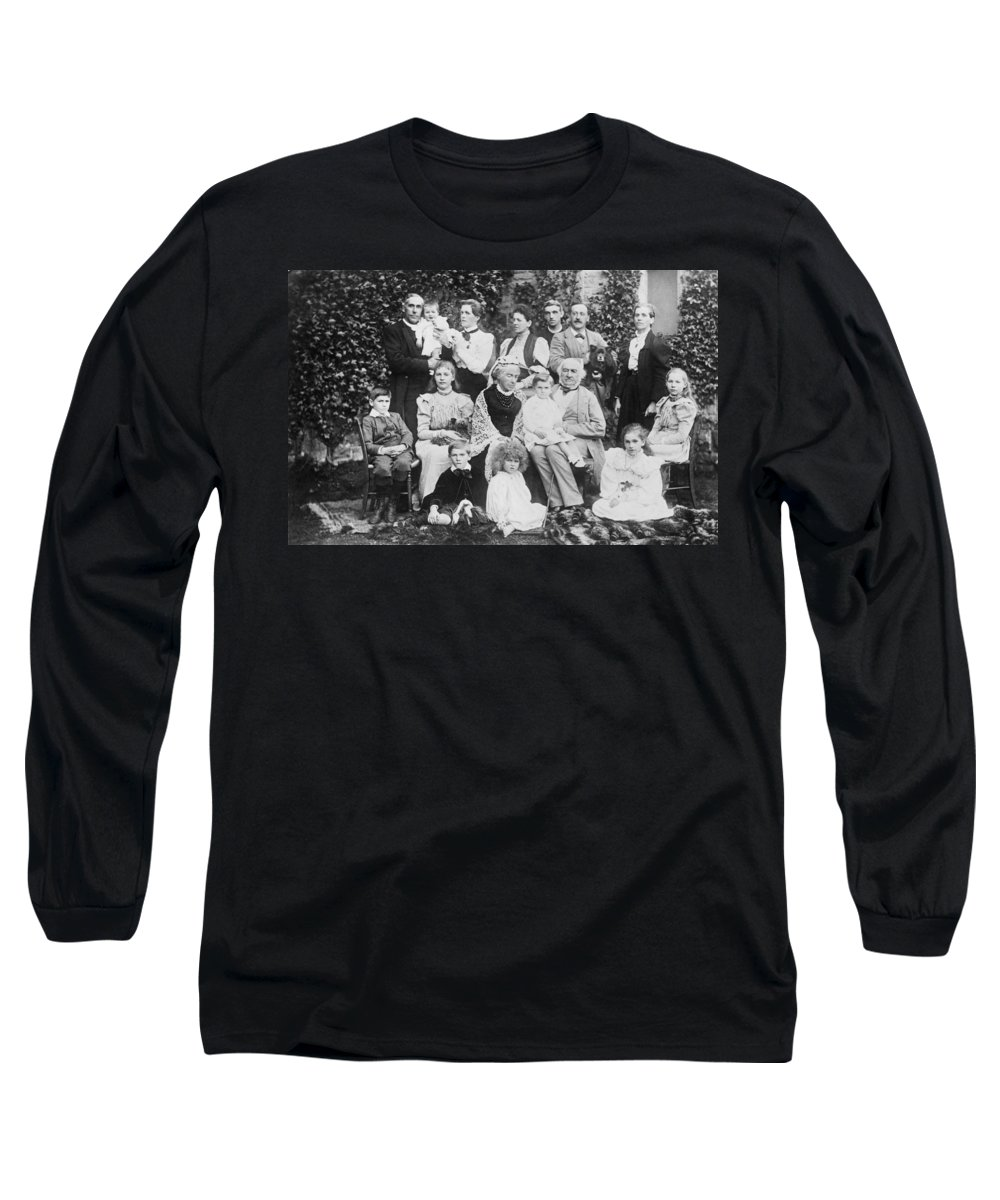 1894 Long Sleeve T-Shirt featuring the photograph William Gladstone With Family by Underwood Archives
