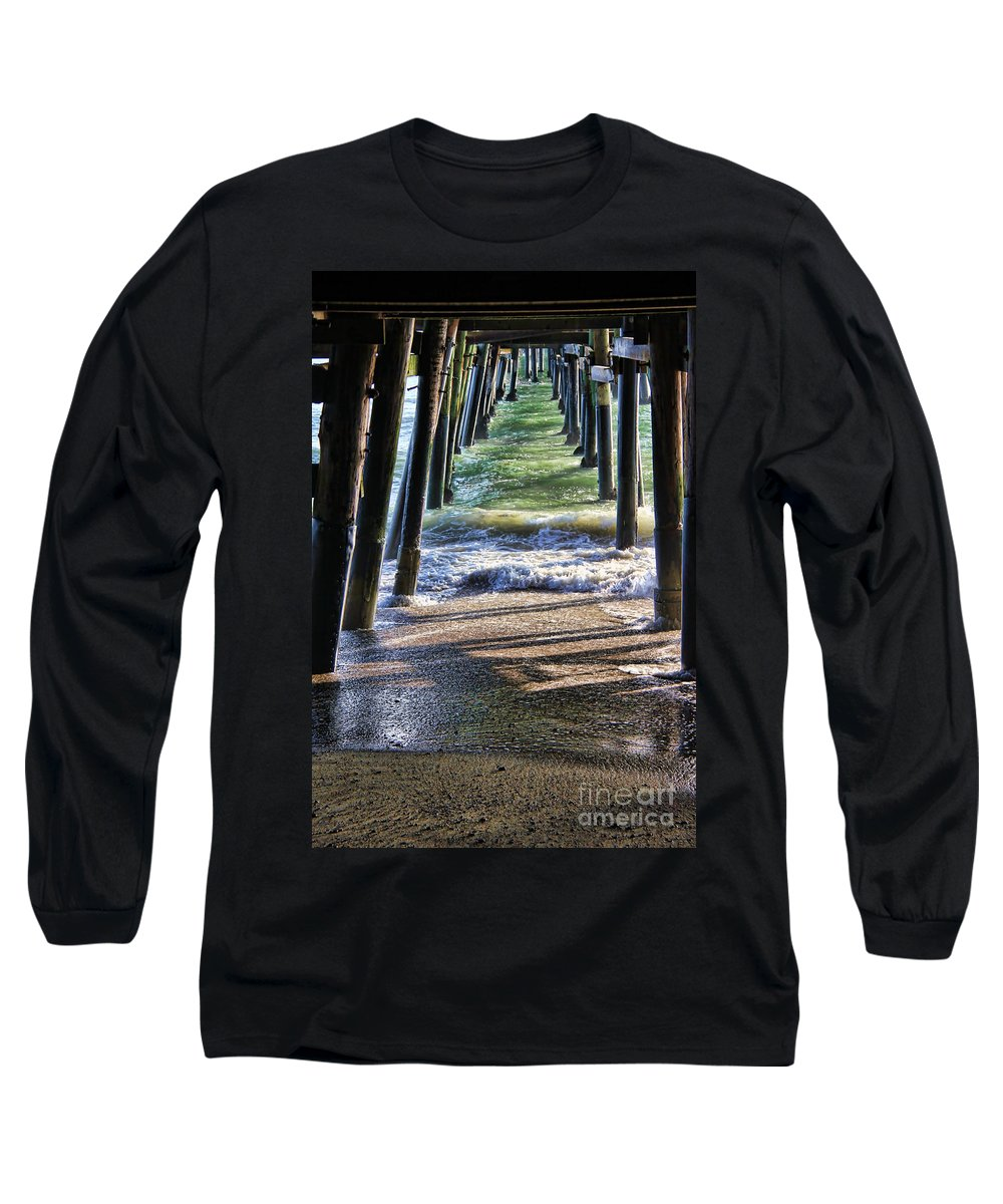 California Long Sleeve T-Shirt featuring the photograph Neptune's Stairway by Mariola Bitner