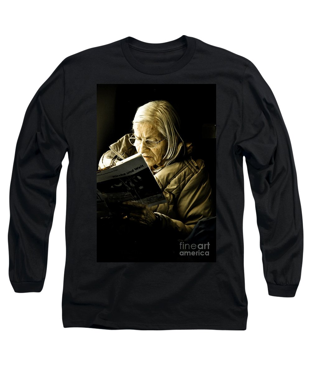 Old Long Sleeve T-Shirt featuring the photograph Reading Is Lifetime Passion by Syed Aqueel