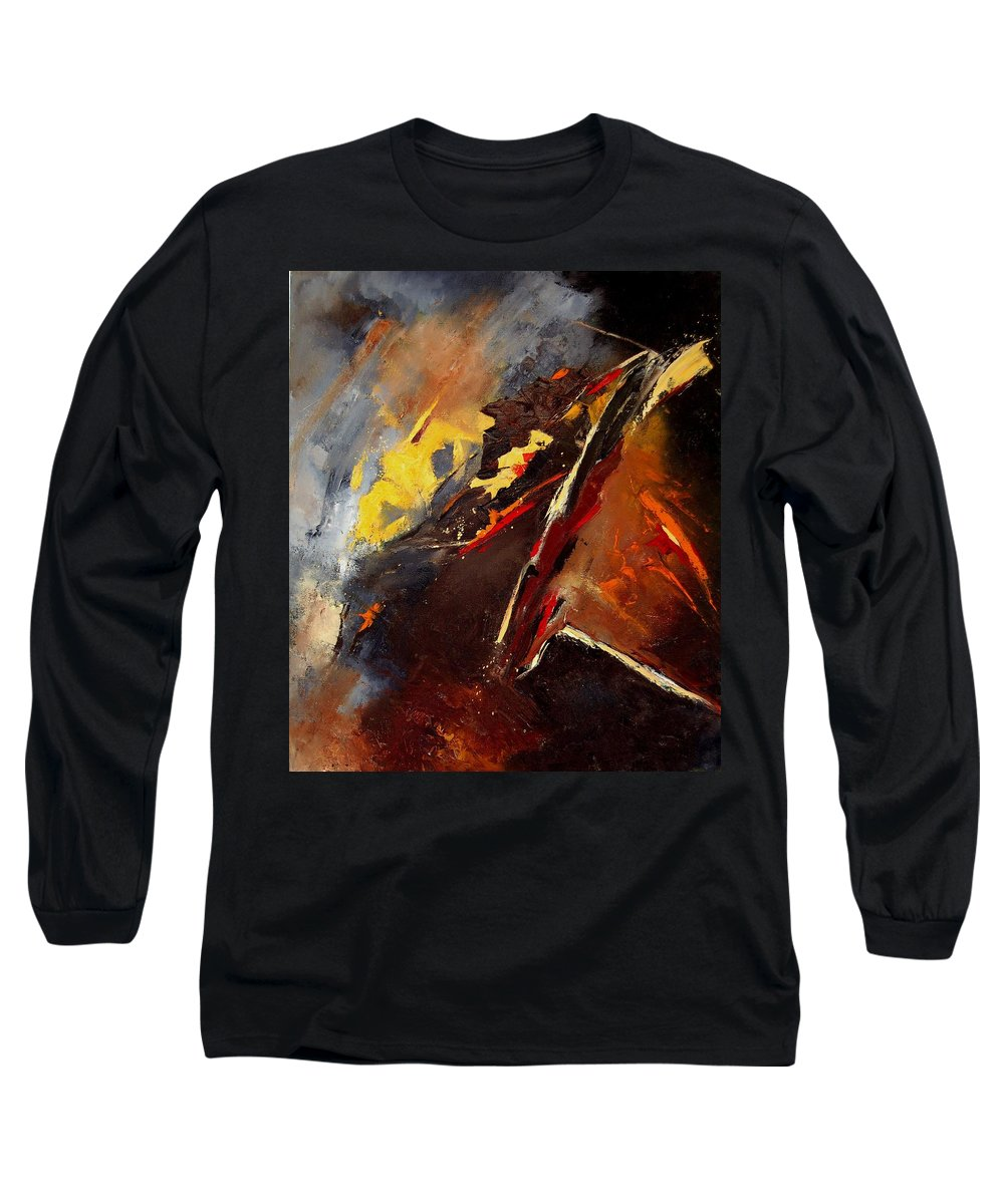 Abstract Long Sleeve T-Shirt featuring the painting Abstract 12 by Pol Ledent