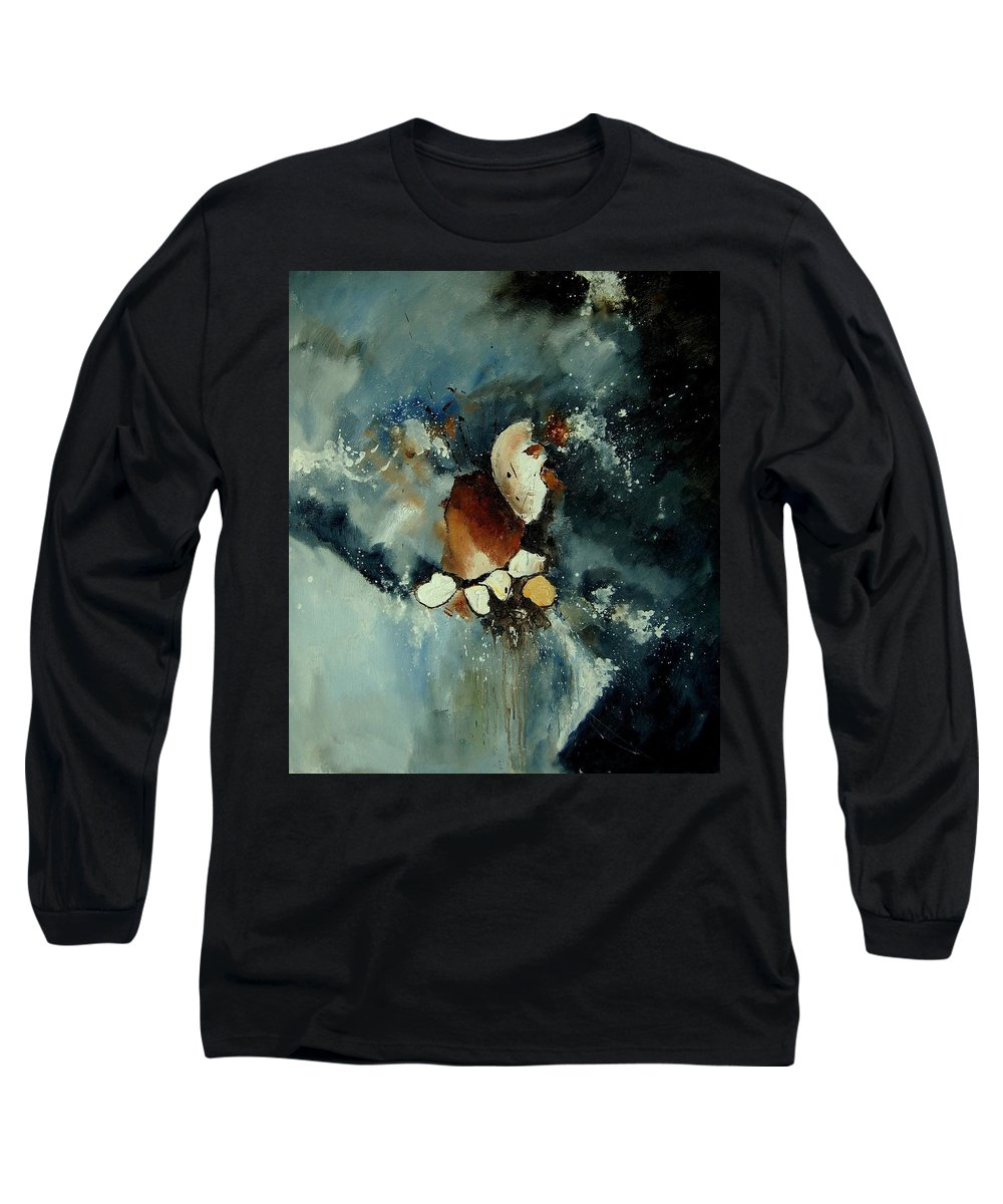 Abstract Long Sleeve T-Shirt featuring the painting Abstract 780707 by Pol Ledent