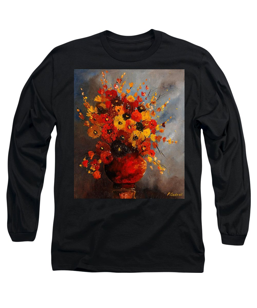 Flowers Long Sleeve T-Shirt featuring the painting Bunch 0708 by Pol Ledent