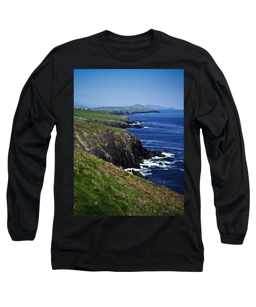 Irish Long Sleeve T-Shirt featuring the photograph Dingle Coastline Near Fahan Ireland by Teresa Mucha