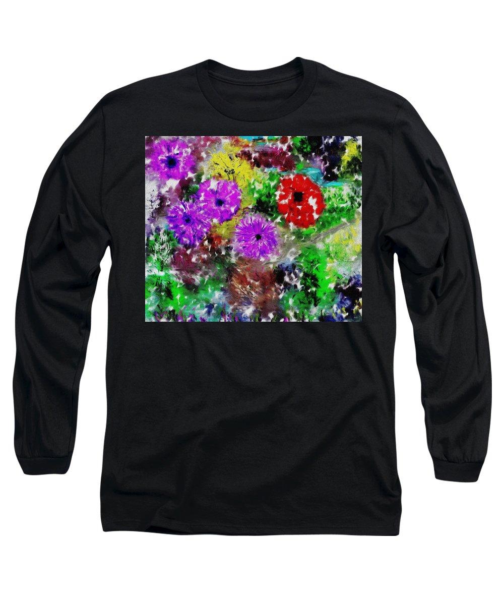 Landscape Long Sleeve T-Shirt featuring the digital art Dream Garden II by David Lane