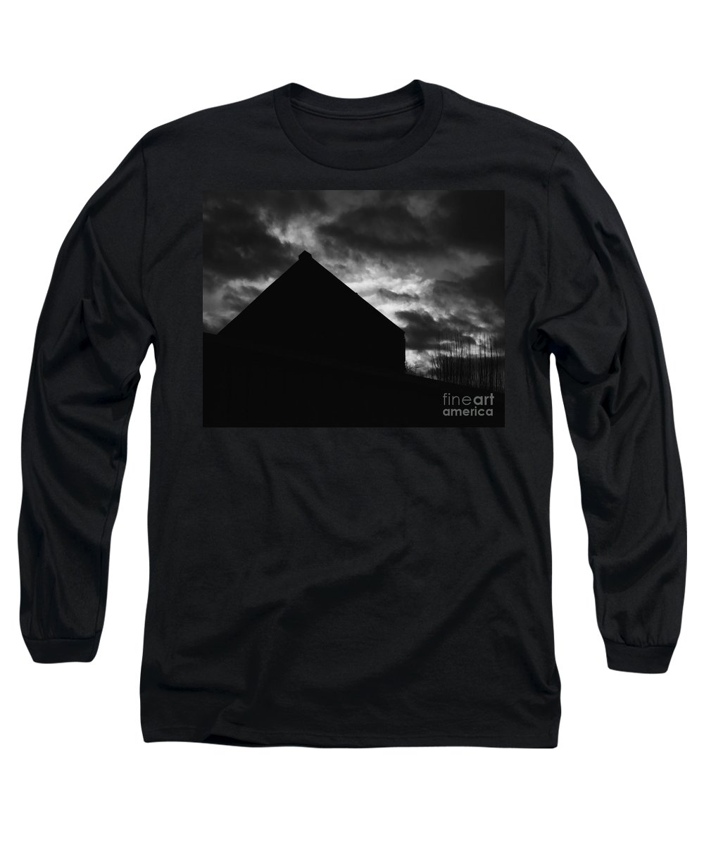 Black And White Long Sleeve T-Shirt featuring the photograph Early Morning by Peter Piatt