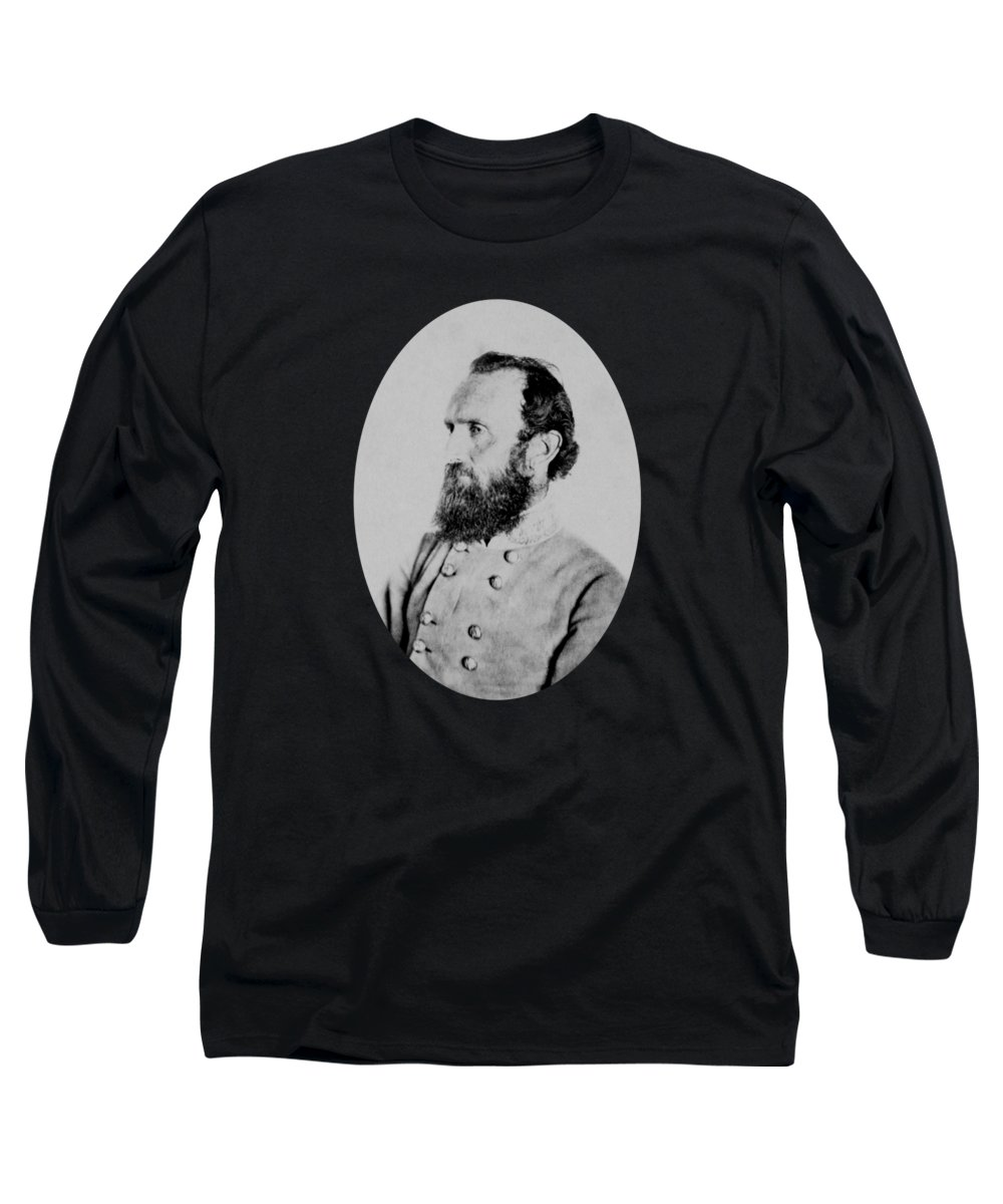 Stonewall Jackson Long Sleeve T-Shirt featuring the photograph General Thomas Stonewall Jackson Photo by War Is Hell Store
