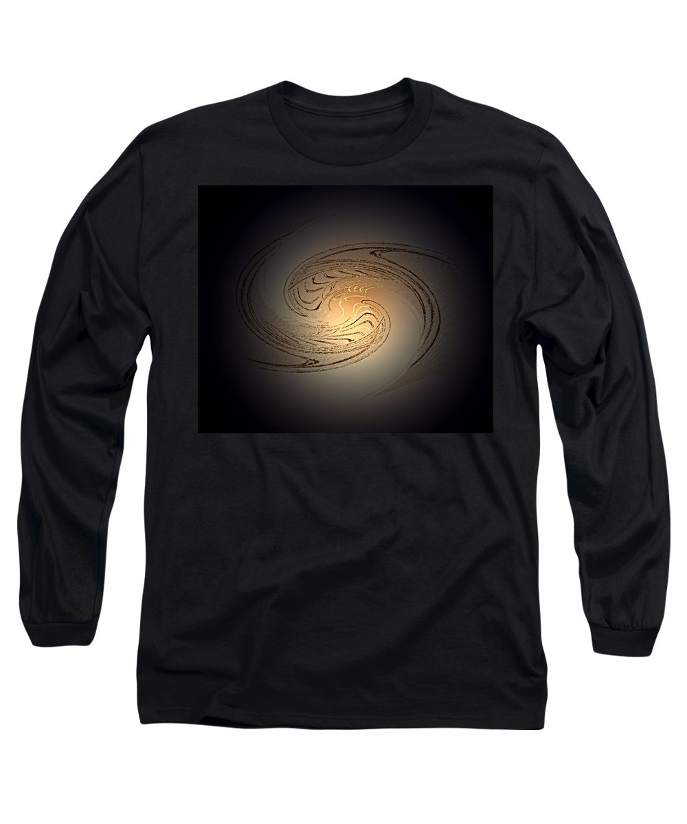 Swirl Long Sleeve T-Shirt featuring the digital art In The Beginning by Don Quackenbush