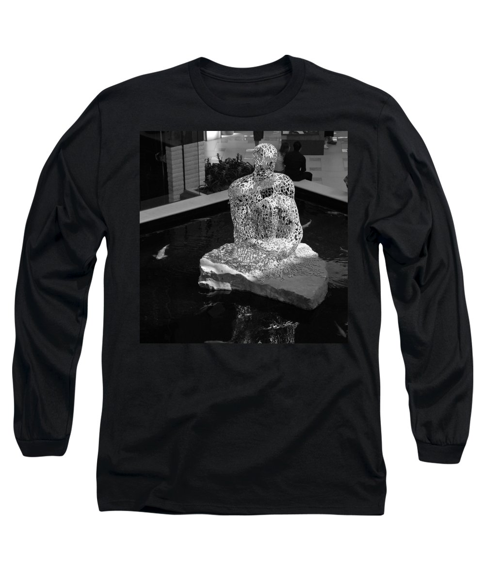 Black And White Long Sleeve T-Shirt featuring the photograph Letterman By Coy by Rob Hans
