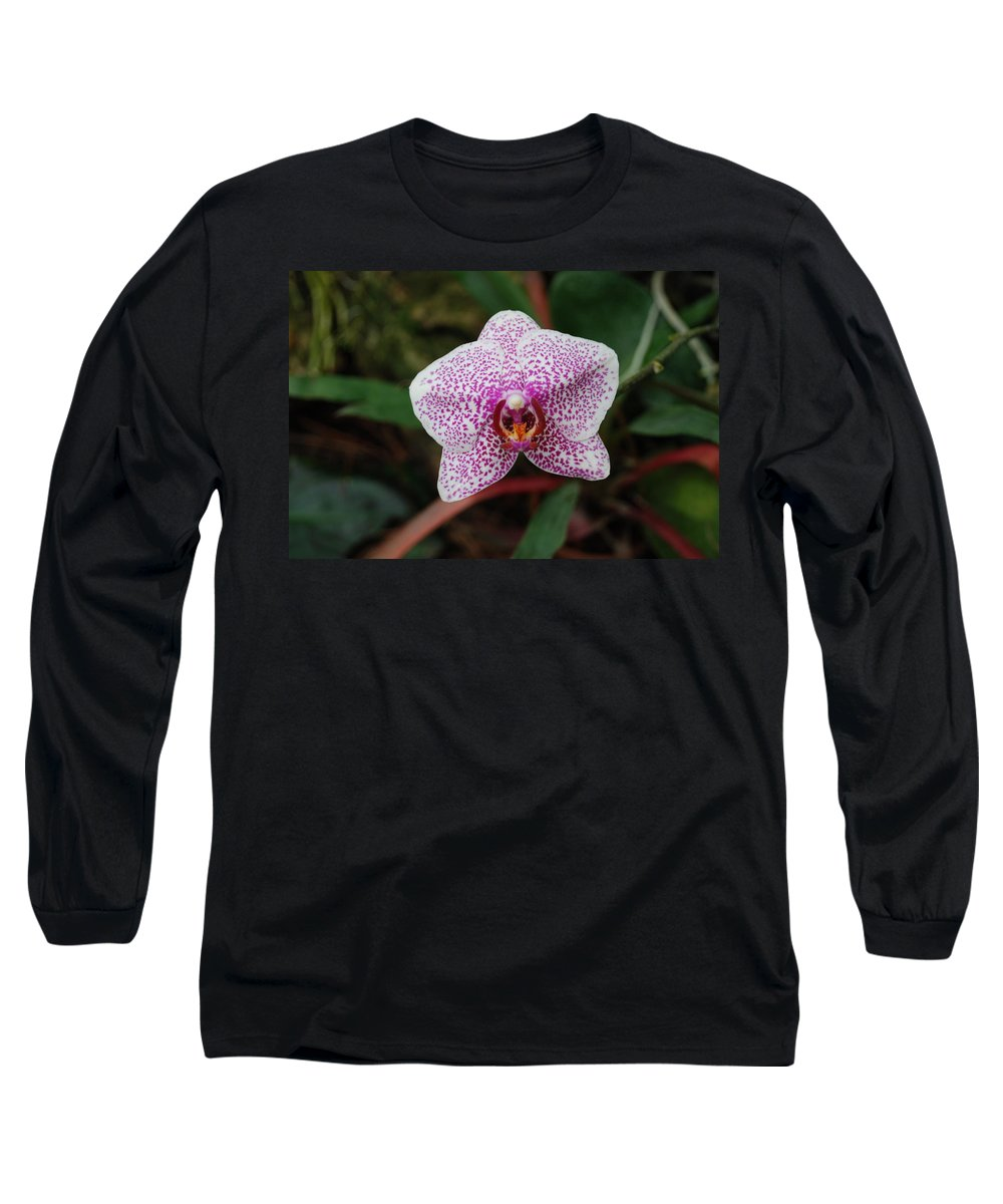 Pink Long Sleeve T-Shirt featuring the photograph Orchid by Rob Hans