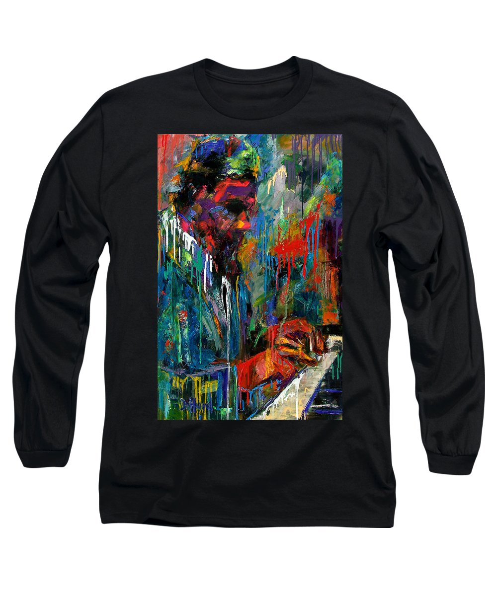Painting Long Sleeve T-Shirt featuring the painting Round Midnight by Debra Hurd
