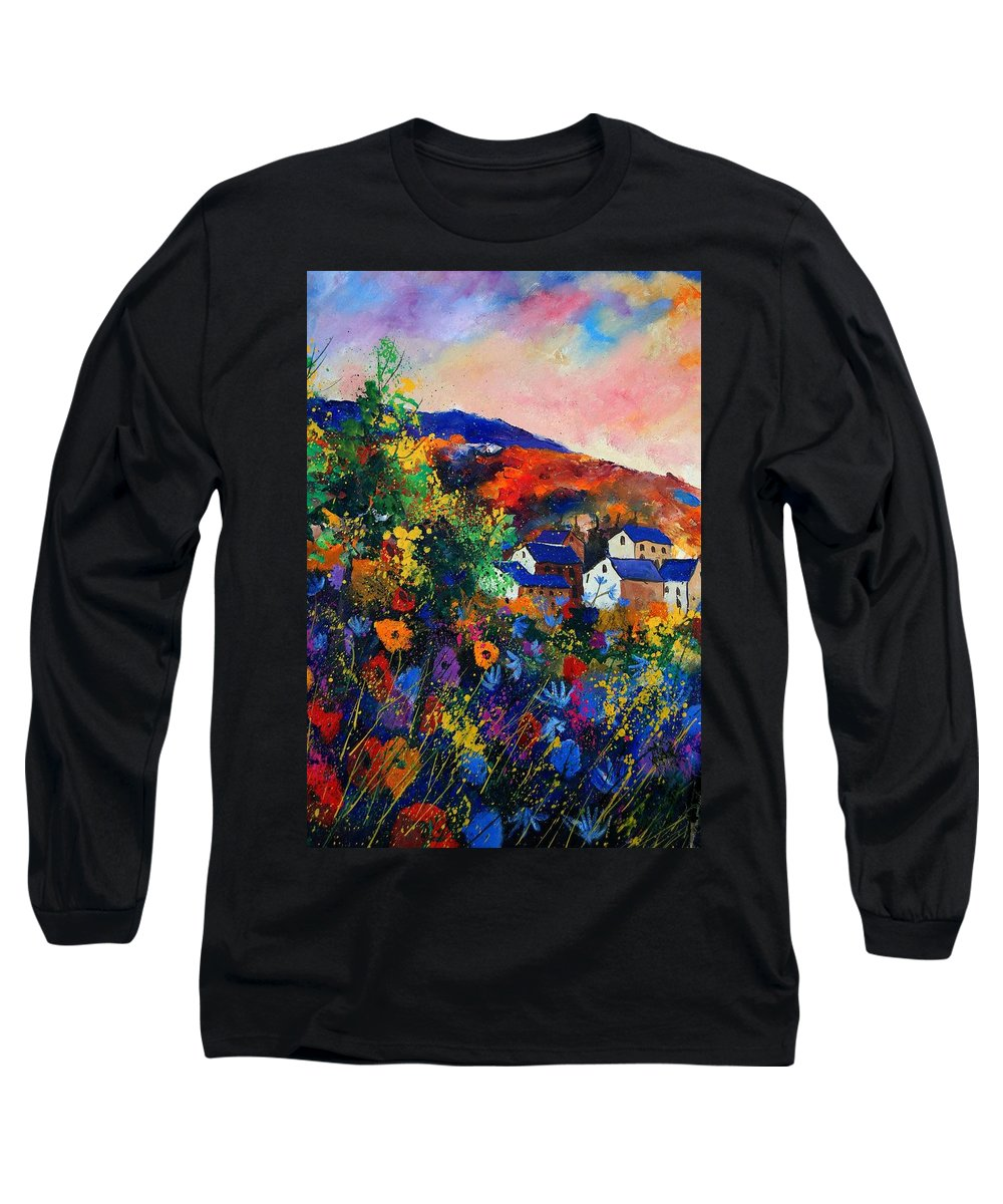 Landscape Long Sleeve T-Shirt featuring the painting Summer by Pol Ledent