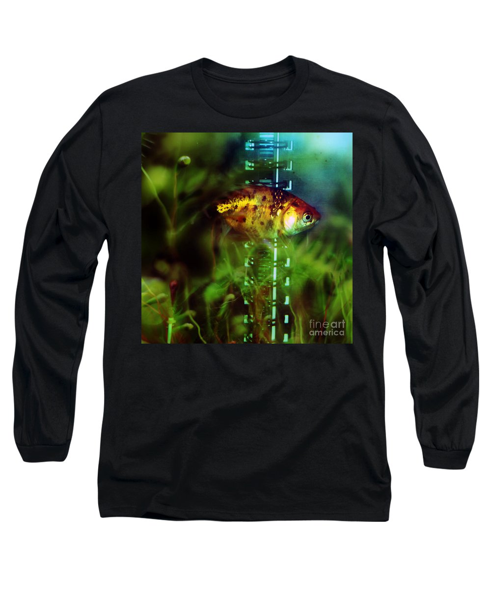 Fish Long Sleeve T-Shirt featuring the photograph The Goldfish by Angel Tarantella