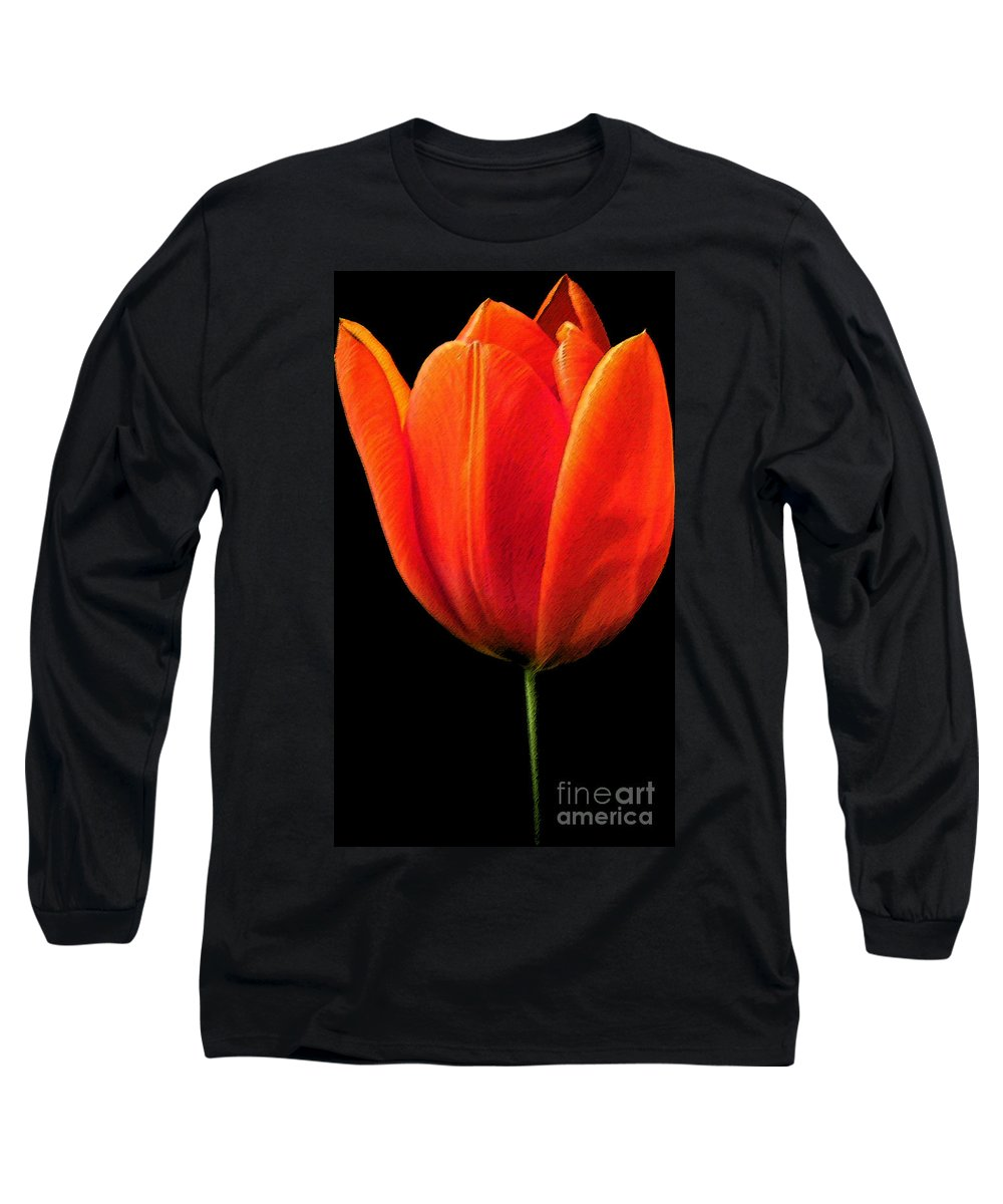 Tulips Long Sleeve T-Shirt featuring the photograph Tulip by Amanda Barcon