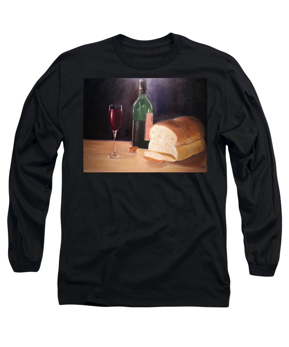 Wine Long Sleeve T-Shirt featuring the painting Untitled by Toni Berry