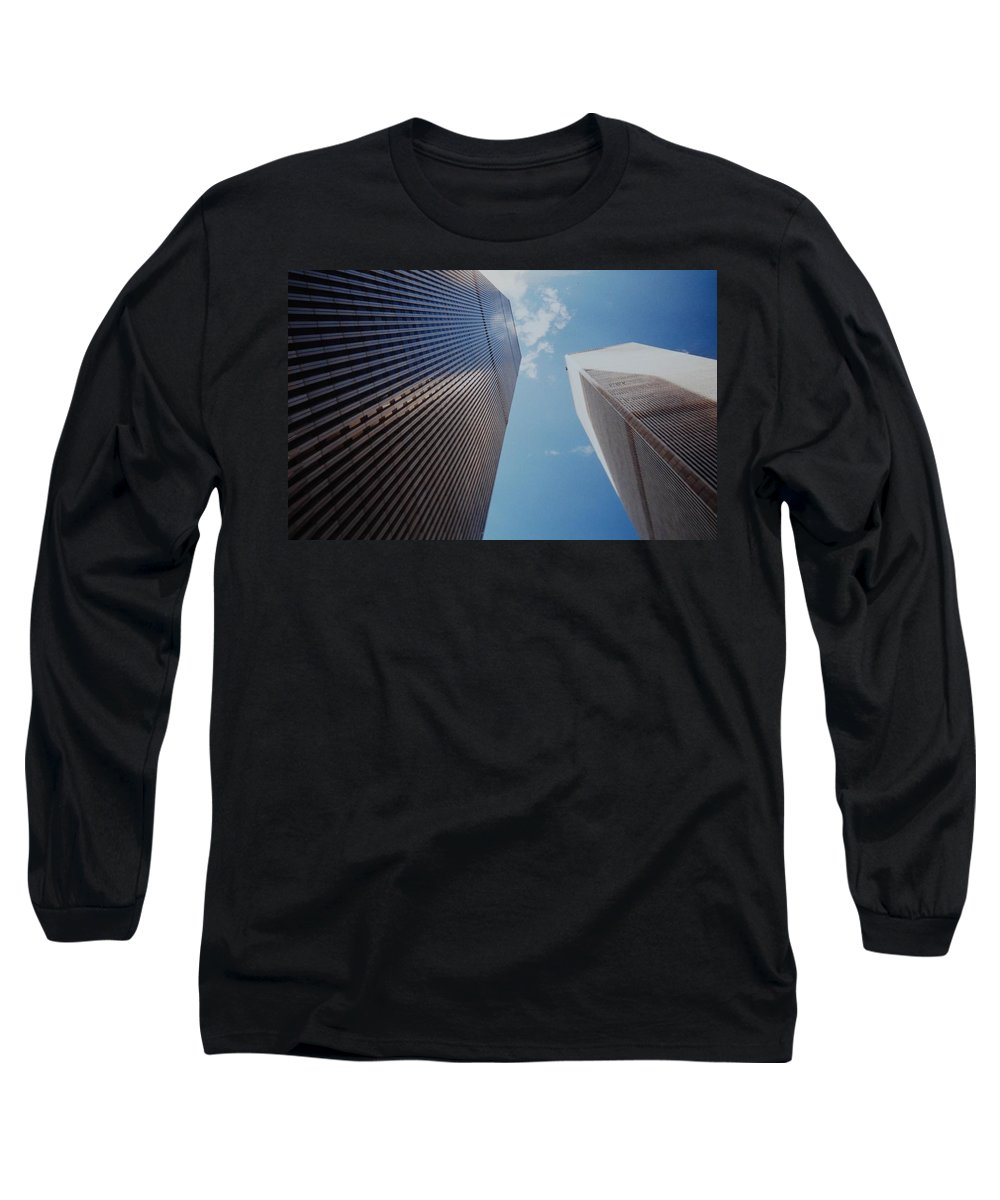 Wtc Long Sleeve T-Shirt featuring the photograph W T C 1 And 2 by Rob Hans