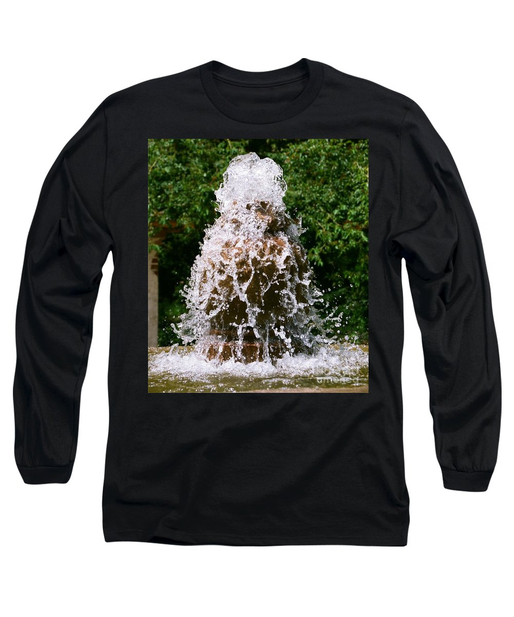 Water Long Sleeve T-Shirt featuring the photograph Water Fountain by Dean Triolo