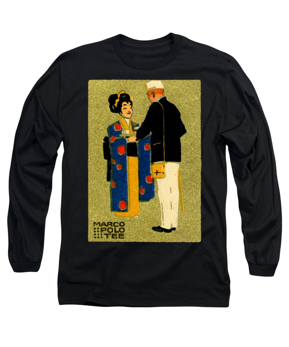 Vintage Long Sleeve T-Shirt featuring the painting 1915 Marco Polo Tea by Historic Image