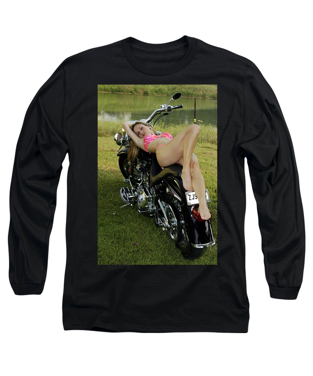 Long Sleeve T-Shirt featuring the photograph Bikes And Babes by Clayton Bruster