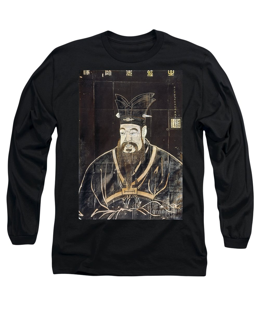 6th Century B.c Long Sleeve T-Shirt featuring the photograph Confucius (c551-479 B.c.) by Granger