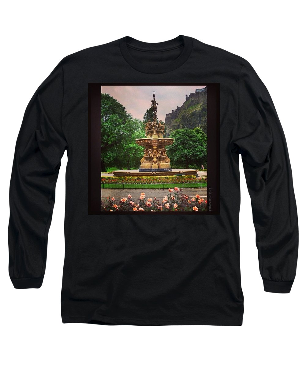 Beautiful Long Sleeve T-Shirt featuring the photograph Throwback Thursday #edinburgh #scotland by Austin Tuxedo Cat