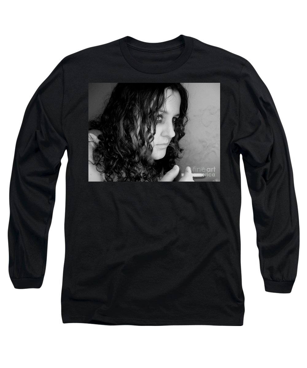 Ciggerette Long Sleeve T-Shirt featuring the photograph Untitiled by Meghann Brunney