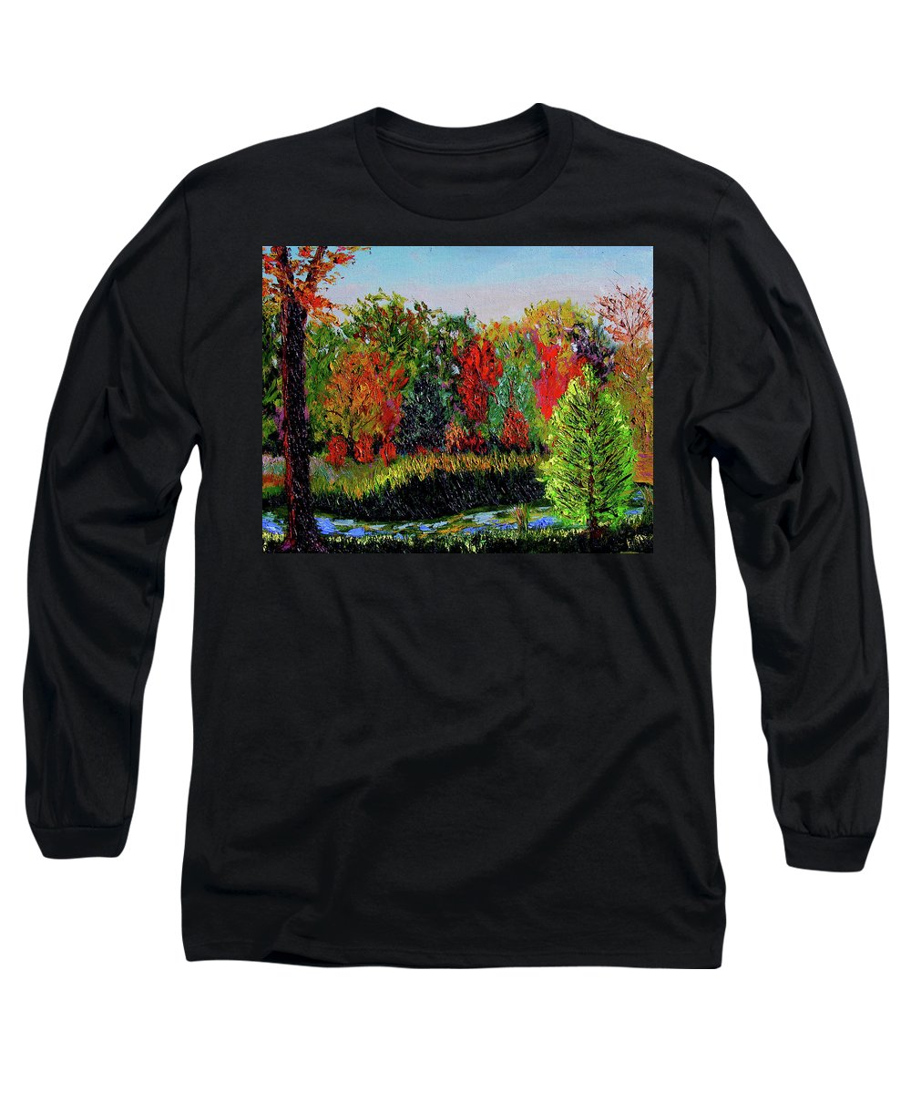 Plein Air Long Sleeve T-Shirt featuring the painting Sewp 10 10 by Stan Hamilton