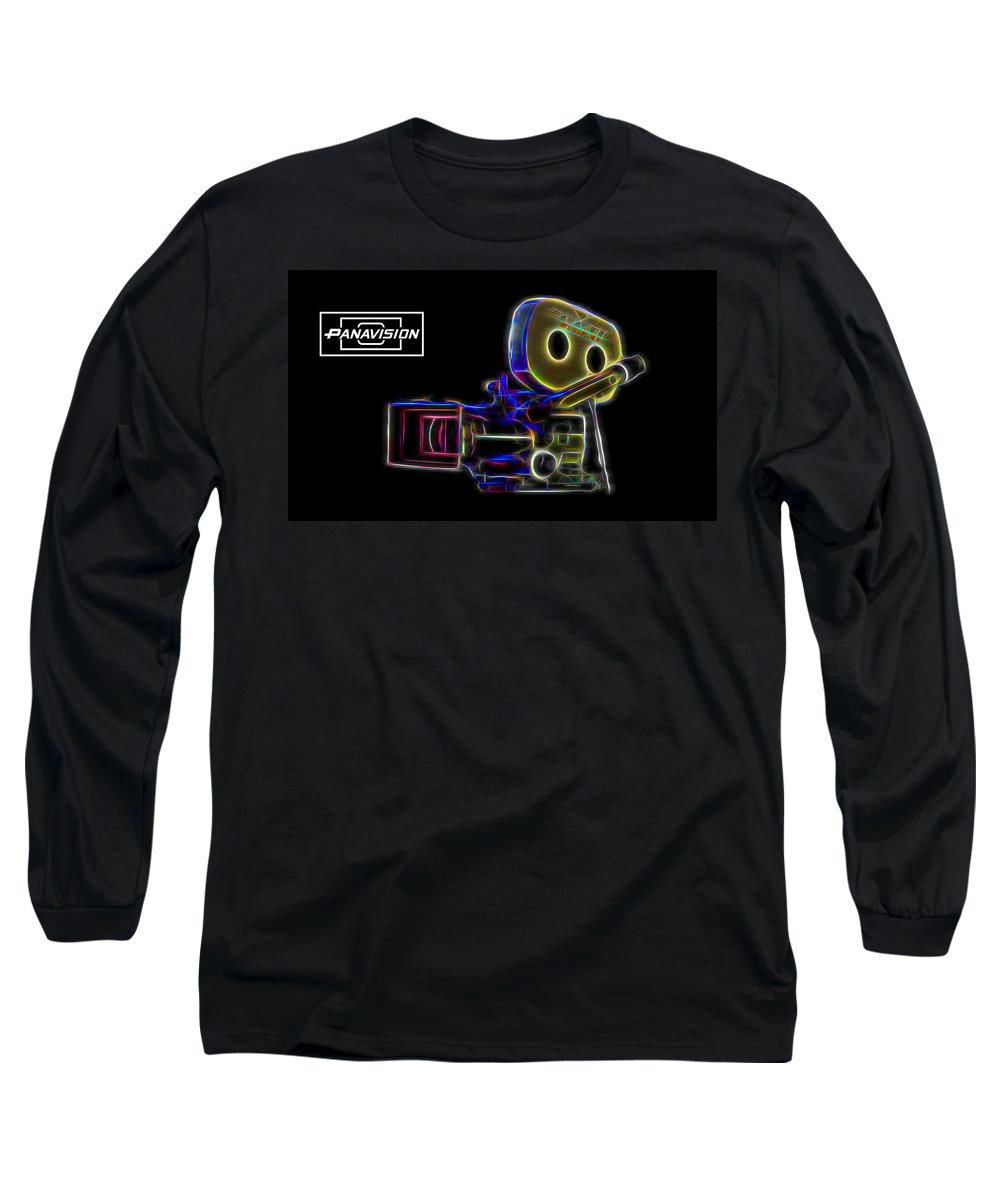 Panavision Long Sleeve T-Shirt featuring the digital art 35mm Panavision by Aaron Berg