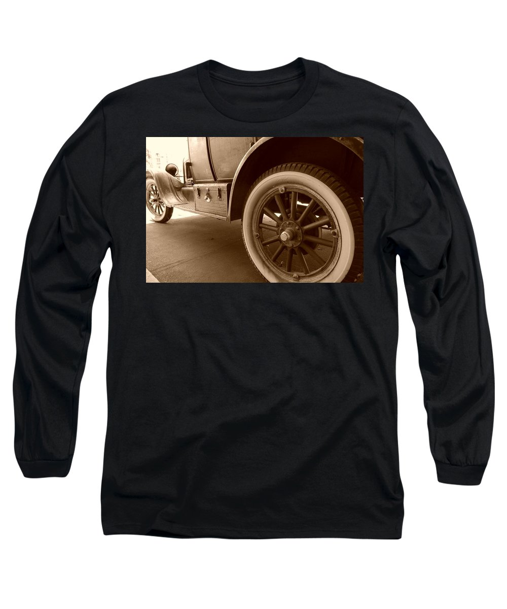 Sepia Long Sleeve T-Shirt featuring the photograph 1926 Model T Ford by Rob Hans