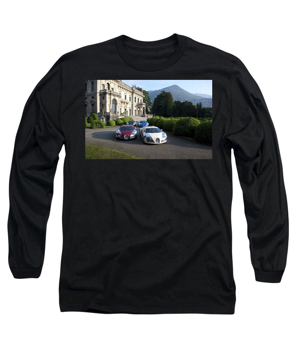 Bugatti Long Sleeve T-Shirt featuring the photograph Bugatti by Jackie Russo