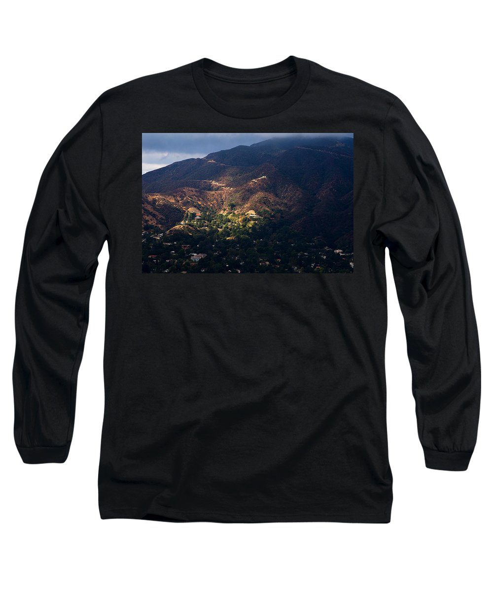 Clay Long Sleeve T-Shirt featuring the photograph A Break In The Clouds In Southern California by Clayton Bruster