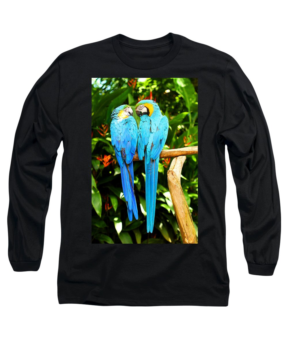 Bird Long Sleeve T-Shirt featuring the photograph A Pair Of Parrots by Marilyn Hunt