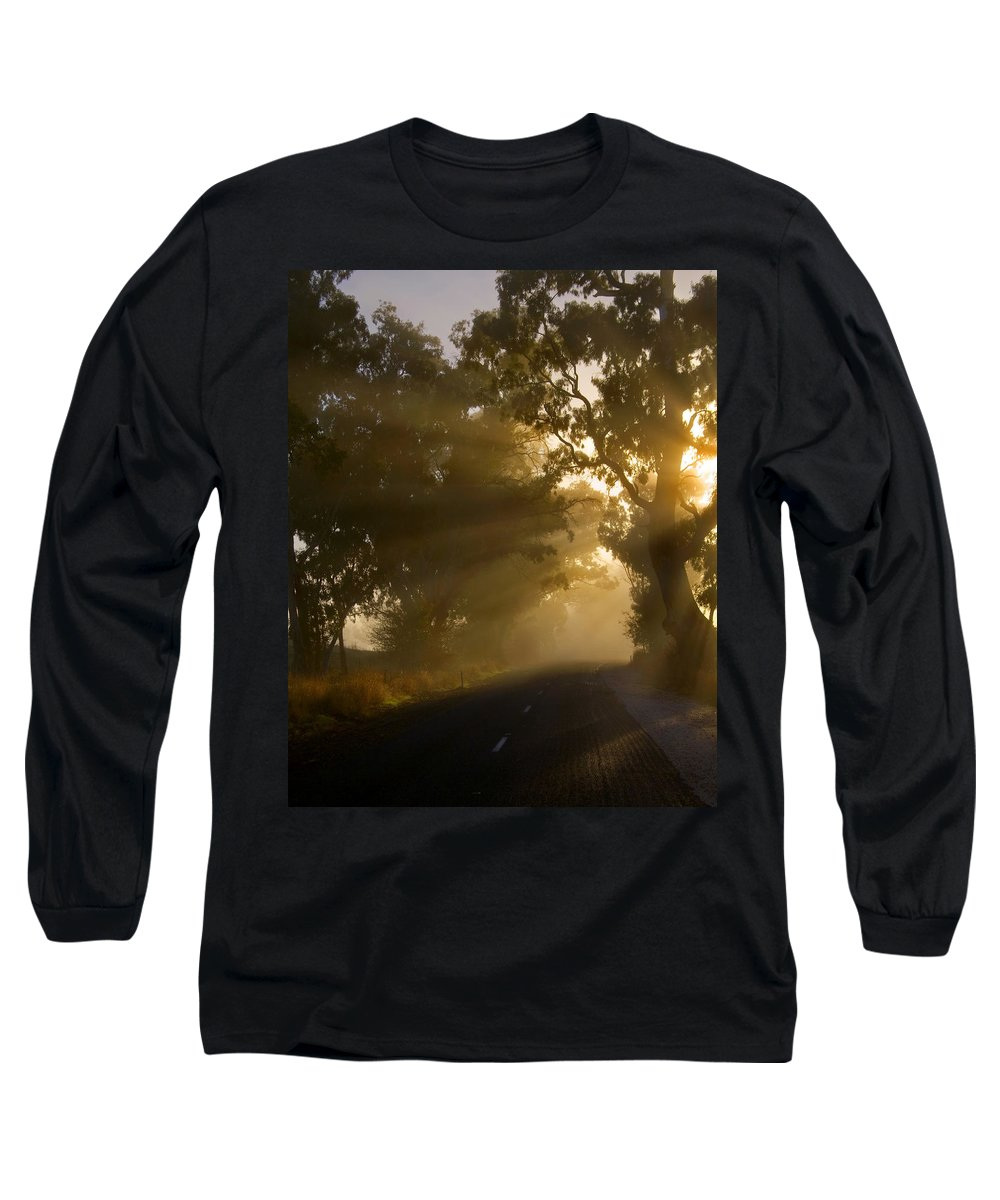 Highway Long Sleeve T-Shirt featuring the photograph A Road Less Traveled by Mike Dawson