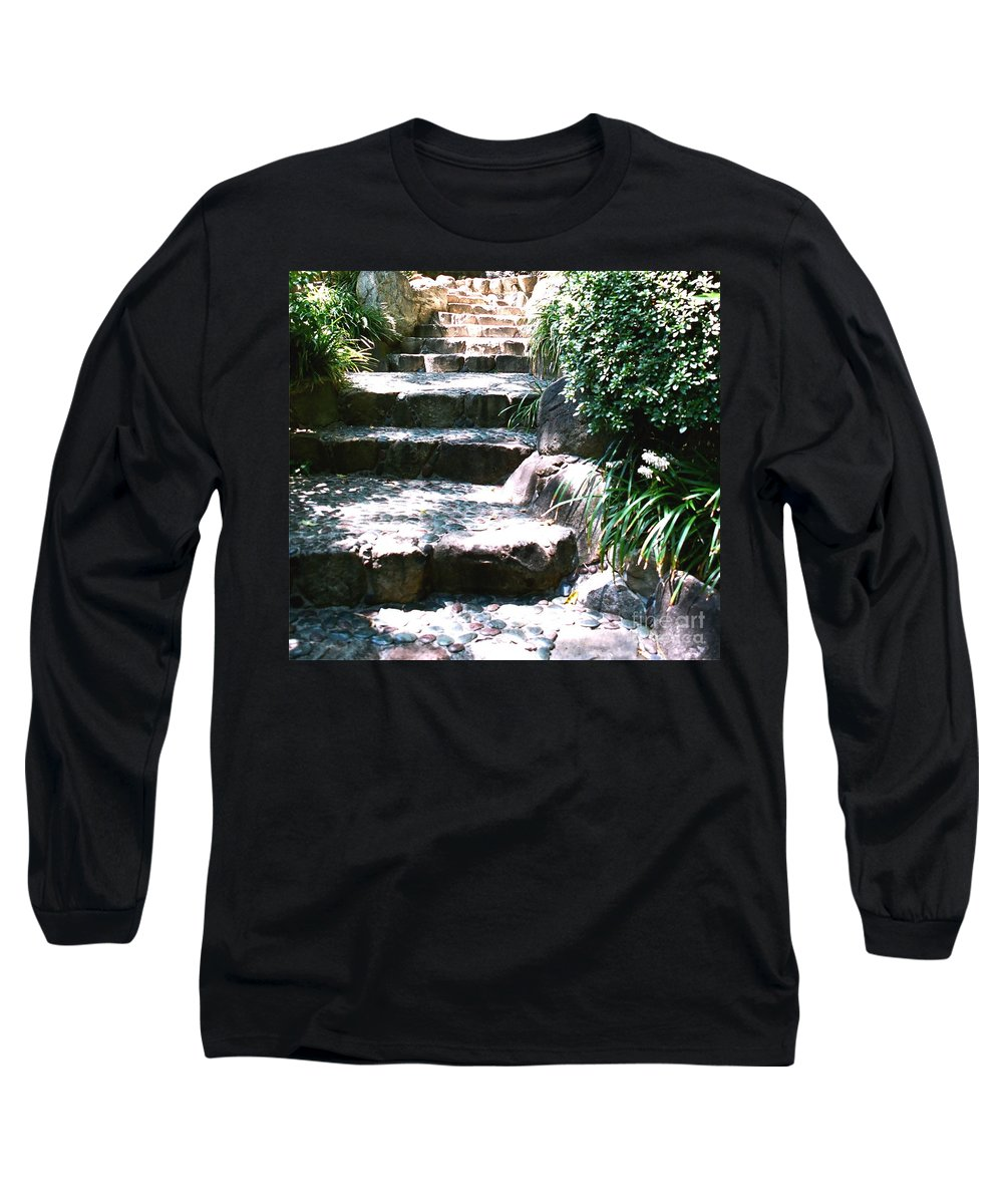 Stairs Long Sleeve T-Shirt featuring the photograph A Way Out by Dean Triolo
