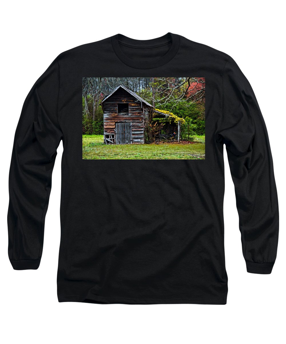 Barn Long Sleeve T-Shirt featuring the photograph A Yellow Cover by Christopher Holmes