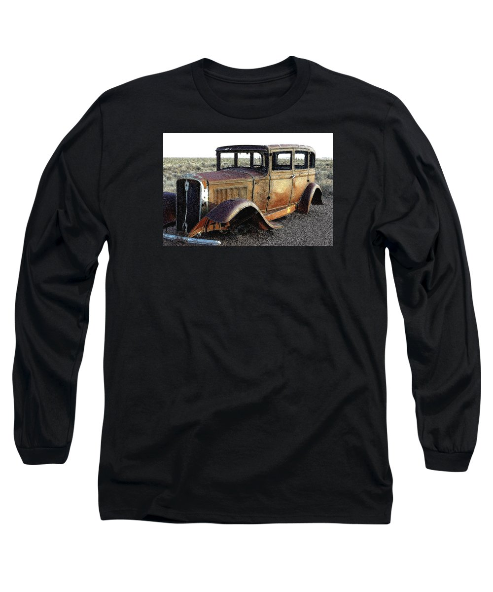 Arizona Long Sleeve T-Shirt featuring the photograph Abandonded Along Rt 66 by Nelson Strong