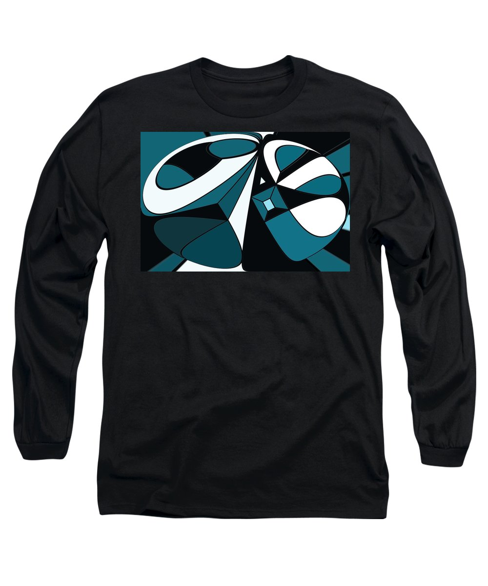 Abstract Long Sleeve T-Shirt featuring the digital art Abstrac7-30-09-a by David Lane