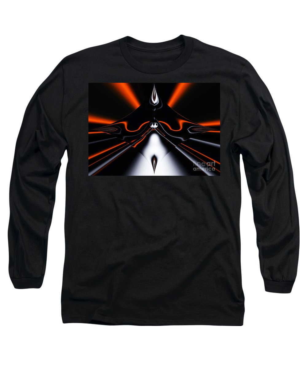 Abstract Long Sleeve T-Shirt featuring the digital art Abstract 4-22-09 by David Lane