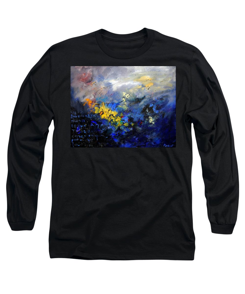 Abstract Long Sleeve T-Shirt featuring the painting Abstract 970208 by Pol Ledent