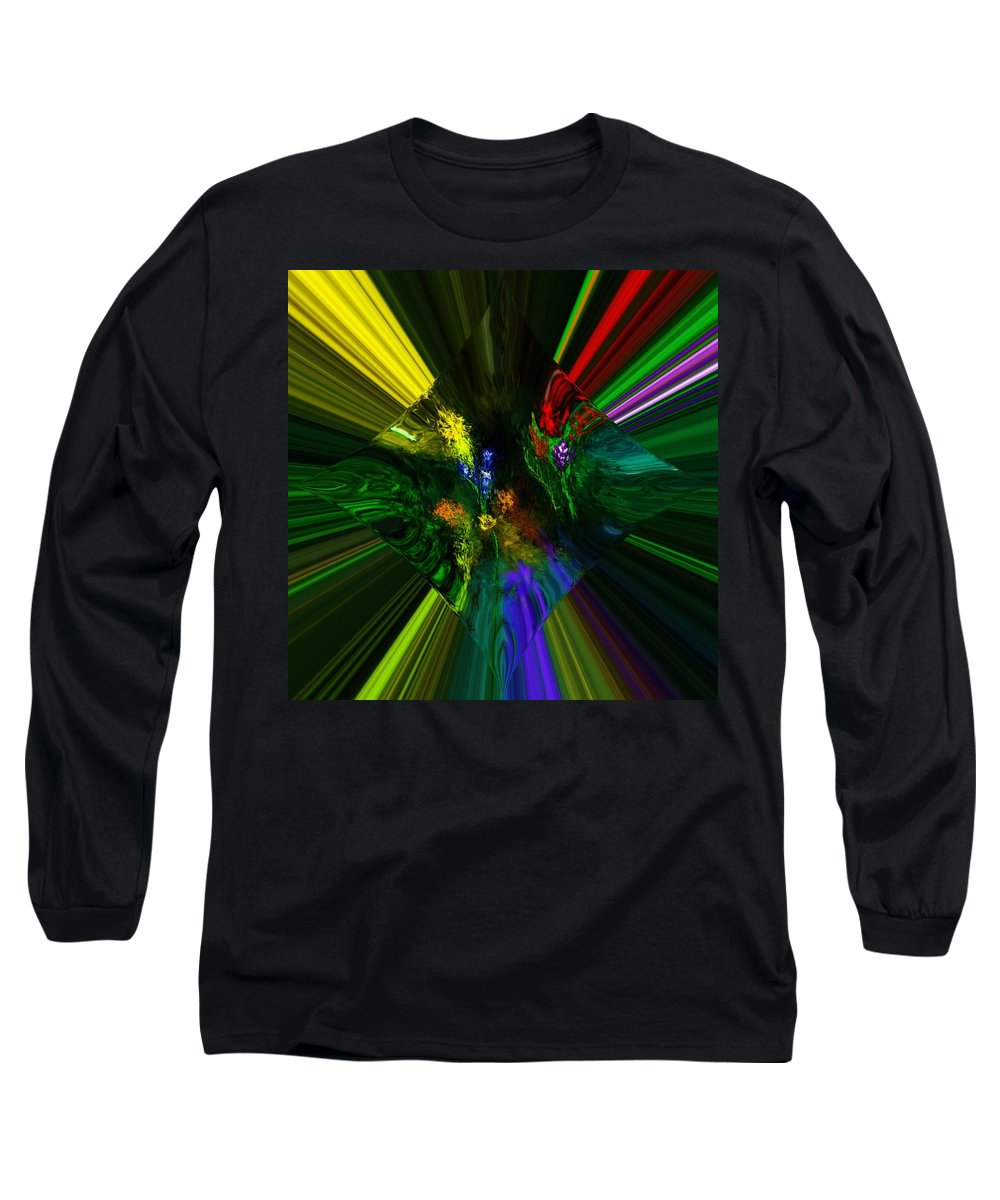 Digital Painting Long Sleeve T-Shirt featuring the digital art Abstract Garden by David Lane