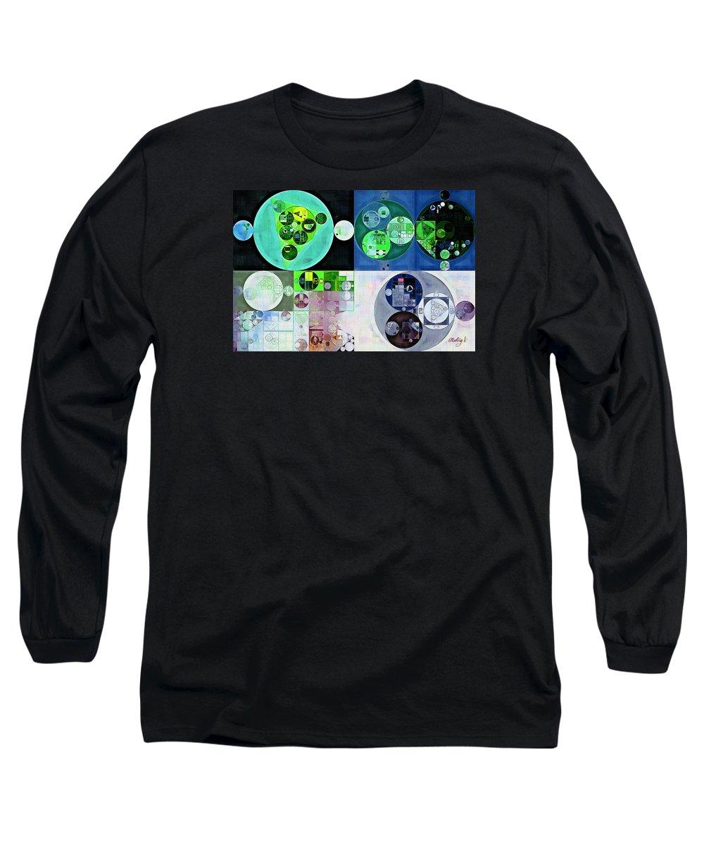 Motion Long Sleeve T-Shirt featuring the digital art Abstract Painting - Iceberg by Vitaliy Gladkiy