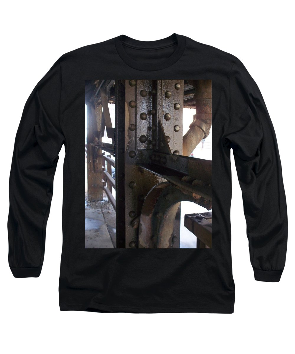 Industrial Long Sleeve T-Shirt featuring the photograph Abstract Rust 5 by Anita Burgermeister